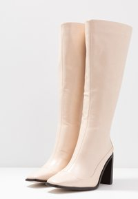 RAID Wide Fit - WIDE FIT CARRSON - High heeled boots - nude - 4