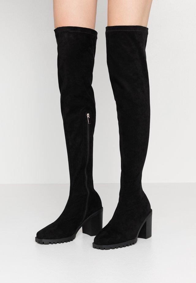 HETTIE - Kozačky nad kolena - black