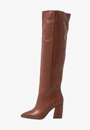 WIDE FIT TERRY - Botas mosqueteras - tan