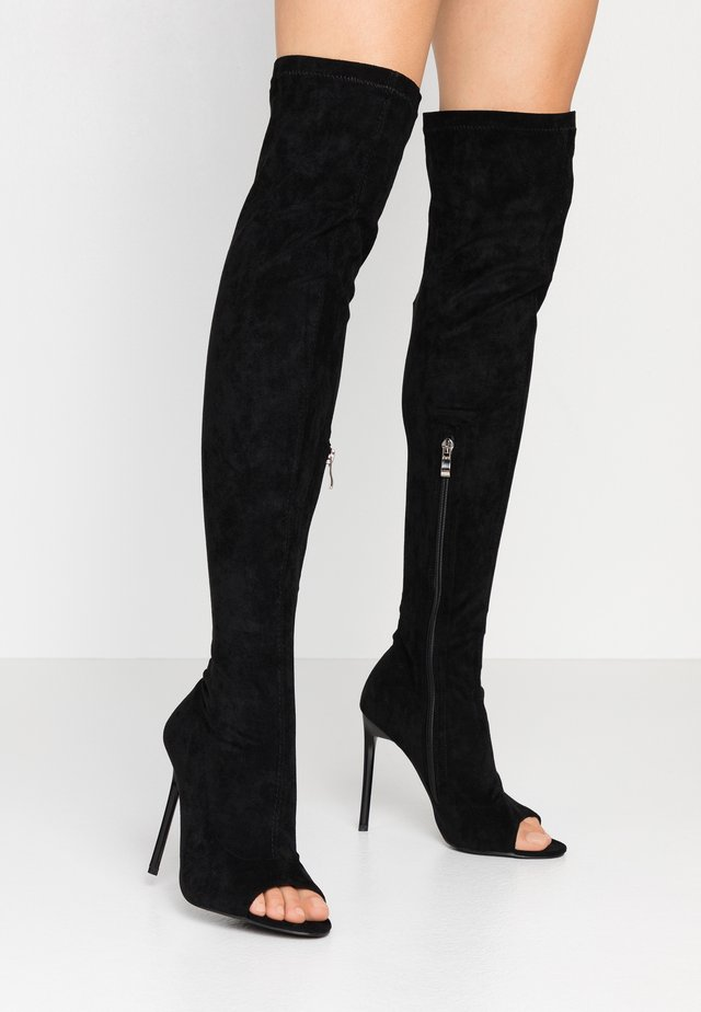 WIDE FIT GILLIAN - Bottes à talons hauts - black
