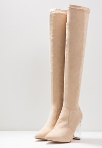 RAID Wide Fit - WIDE FIT DEIDRE - High heeled boots - nude - 4
