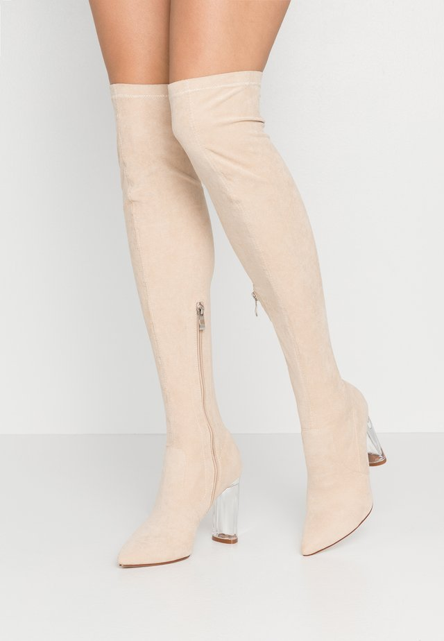 WIDE FIT DEIDRE - High heeled boots - nude