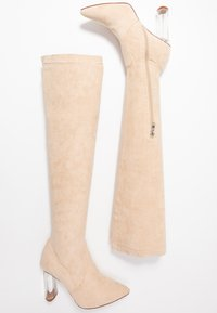 RAID Wide Fit - WIDE FIT DEIDRE - High heeled boots - nude - 3