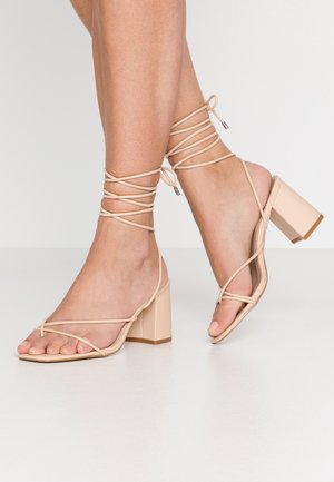WIDE FIT JENNIFER - Sandalias - beige