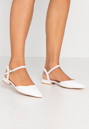 WIDE FIT BONITA - Sandals - white