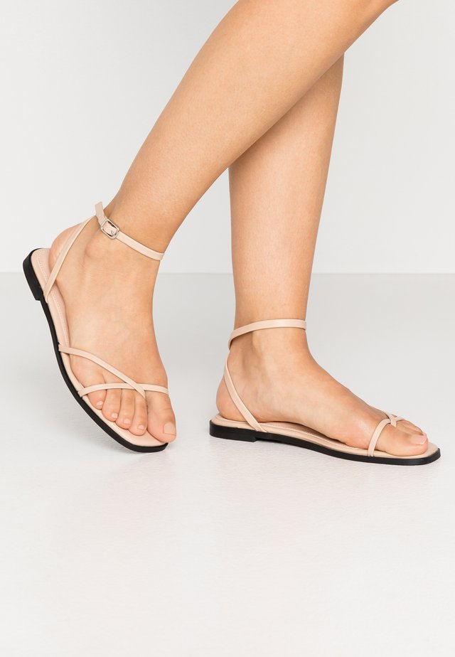 WIDE FIT CANYON - T-bar sandals - nude