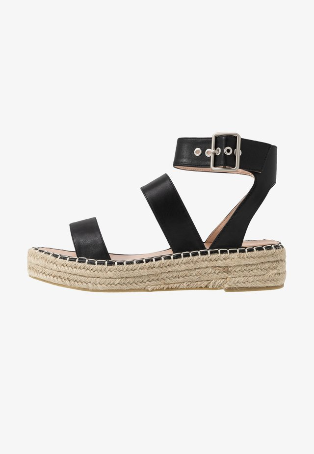 WIDE FIT BELLINI - Espadrillot - black