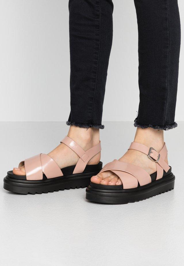 WIDE FIT CARMEN - Korkeakorkoiset sandaalit - blush