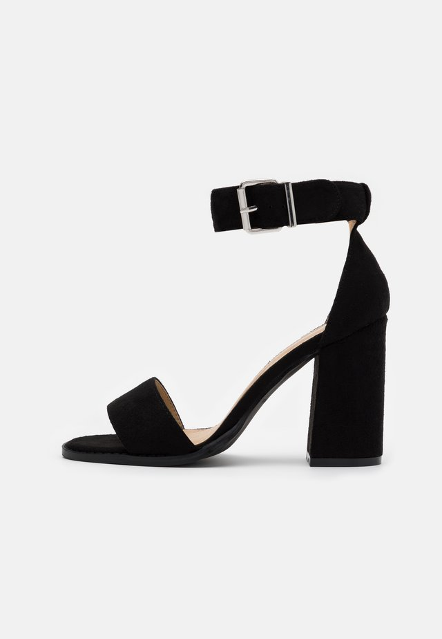 WIDE FIT IMANI - High heeled sandals - black