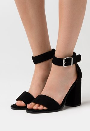 WIDE FIT IMANI - Sandalias de tacón - black