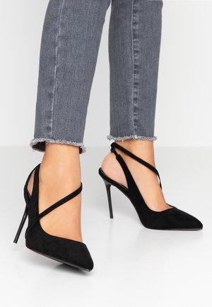 WIDE FIT JANESSA - High heels - black
