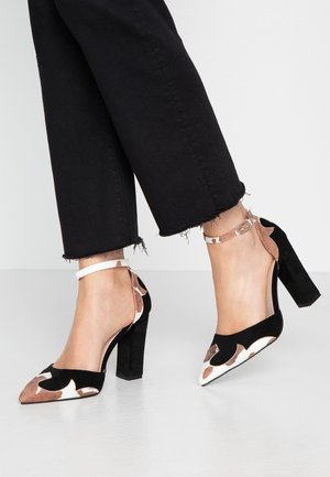 WIDE FIT RAYNA - Szpilki - black/multicolor