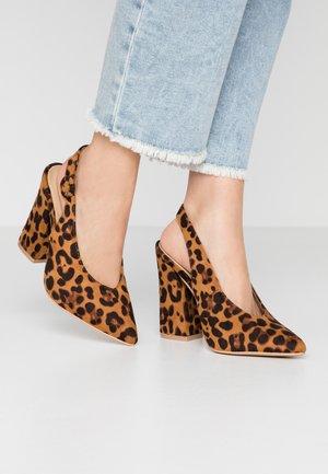 WIDE FIT BROOK - High heels - tan