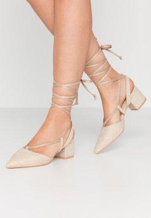 WIDE FIT KAITLIN - Classic heels - dark beige