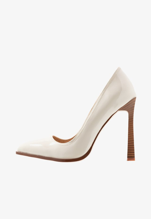 WIDE FIT UNA - High heels - offwhite
