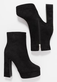 RAID Wide Fit - WIDE FIT CHAYA - High heeled ankle boots - black - 3