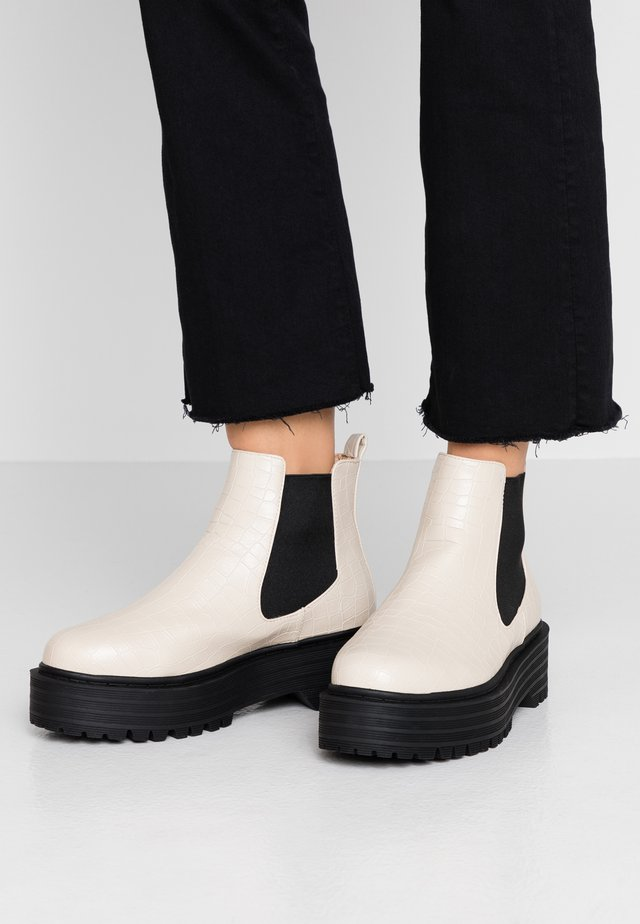 WIDE FIT ROMINA - Ankle boots - offwhite