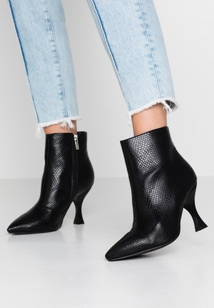 TILLY - High heeled ankle boots - black