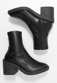 RAID Wide Fit - WIDE FIT TATUM - High heeled ankle boots - black - 3