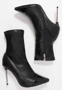 RAID Wide Fit - WIDE FIT LIMONE - High heeled ankle boots - black - 3