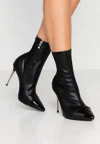RAID Wide Fit - WIDE FIT LIMONE - High heeled ankle boots - black - 0