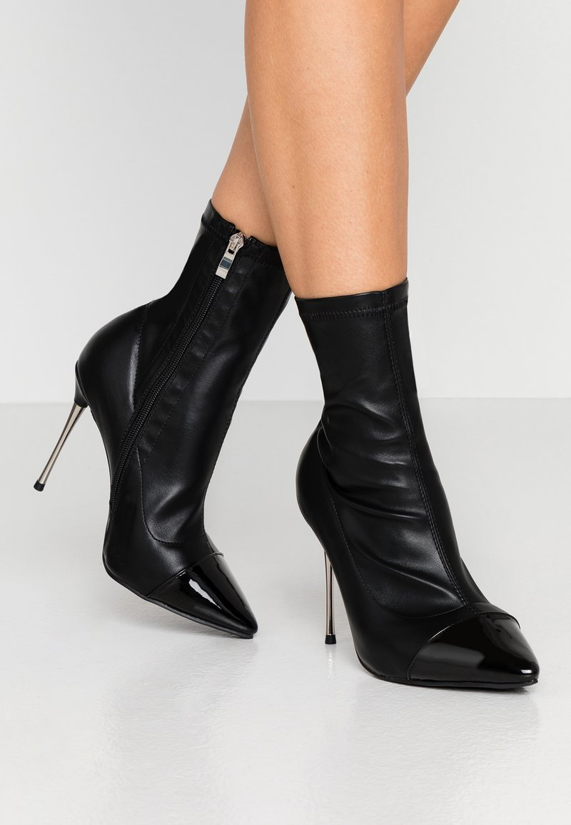 RAID Wide Fit - WIDE FIT LIMONE - High heeled ankle boots - black