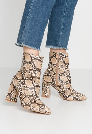 WIDE FIT MEADOW - High heeled ankle boots - stone