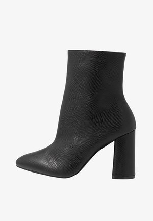 WIDE FIT MEADOW - Kotníková obuv na vysokém podpatku - black