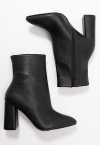 RAID Wide Fit - WIDE FIT MEADOW - High heeled ankle boots - black - 3