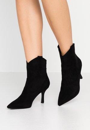 WIDE FIT KAISON - Cowboy/biker ankle boot - black