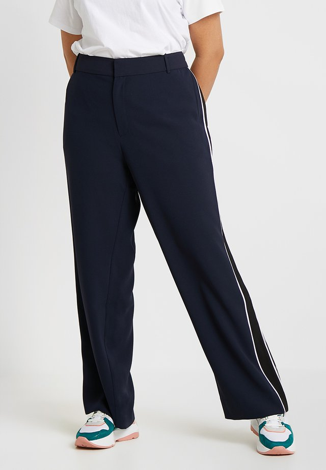 EXCLUSIVE HALO PIPED PANT - Trousers - navy/lavender