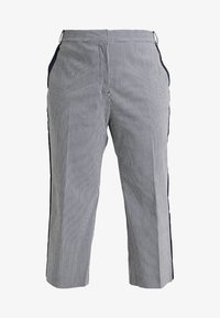 RACHEL Rachel Roy Curvy - EXCLUSIVE ELIN STRIPE PANT - Trousers - true navy combo - 3