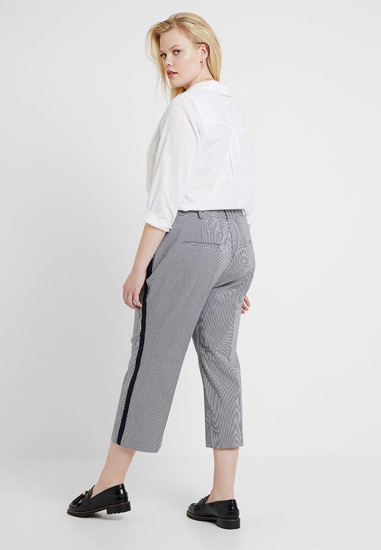 RACHEL Rachel Roy Curvy - EXCLUSIVE ELIN STRIPE PANT - Trousers - true navy combo