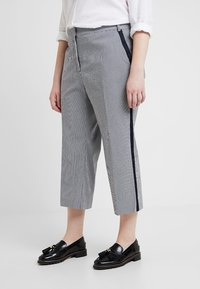 RACHEL Rachel Roy Curvy - EXCLUSIVE ELIN STRIPE PANT - Trousers - true navy combo - 2