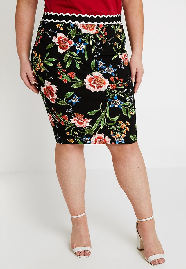 EXCLUSIVE GRETCHEN PENCIL SKIRT - Blyantnederdel / pencil skirts - black combo