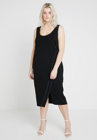 RACHEL Rachel Roy Curvy - EXCLUSIVE TANK DRESS - Shift dress - black - 1