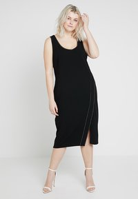 RACHEL Rachel Roy Curvy - EXCLUSIVE TANK DRESS - Shift dress - black - 0