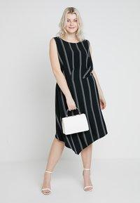 RACHEL Rachel Roy Curvy - EXCLUSIVE RACHEL ROY RINA STRIPE DRESS - Day dress - black/white - 1