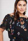 RACHEL Rachel Roy Curvy - EXCLUSIVE CAELIA OFF THE SHOULDER - Bluse - black mystery/combo