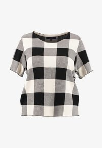 RACHEL Rachel Roy Curvy - EXCLUSIVE - Print T-shirt - black cream - 4