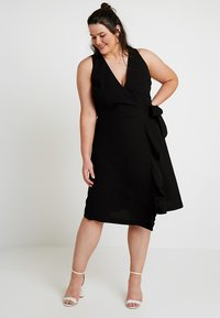 RACHEL Rachel Roy Curvy - EXCLUSIVE ETTA TRENCH DRESS - Day dress - black - 0