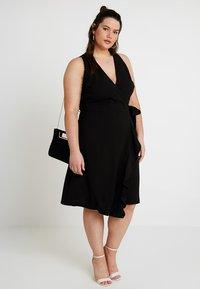 RACHEL Rachel Roy Curvy - EXCLUSIVE ETTA TRENCH DRESS - Day dress - black - 1