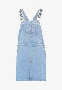 Ragged Jeans - DUNGAREE DRESS - Denimové šaty - light blue - 5