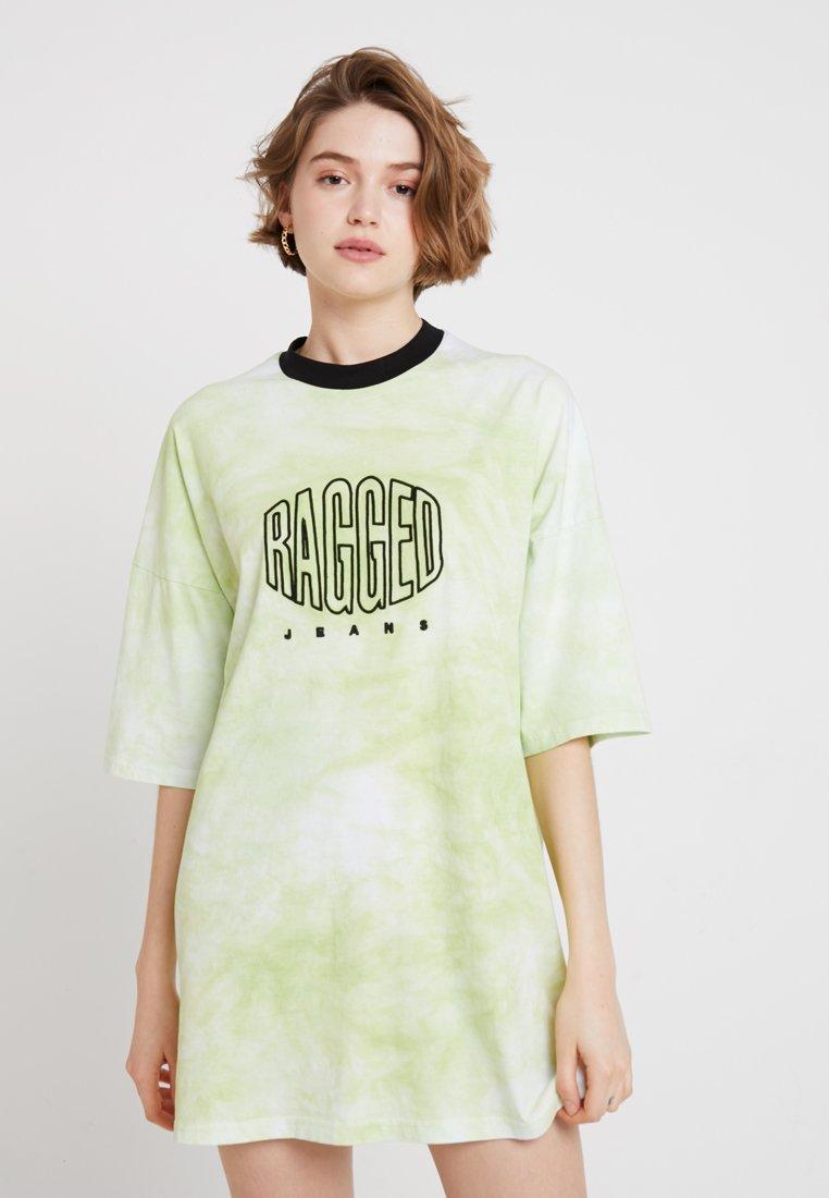 Ragged Jeans - TIE DYE TEE DRESS  - Vestido informal - green