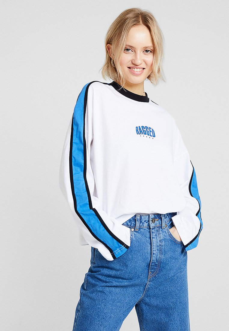 Ragged Jeans - STRIPE SLEEVE TEE - Camiseta de manga larga - white