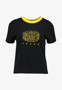 Ragged Jeans - EMBROIDED RINGER - T-shirt imprimé - black - 3