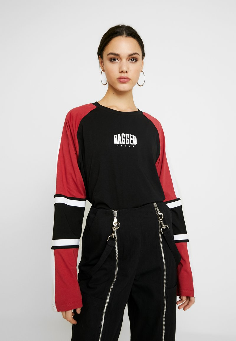 Ragged Jeans - ORDER TEE - Long sleeved top - black/multi