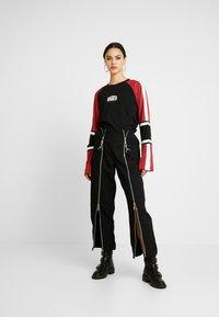 Ragged Jeans - ORDER TEE - Long sleeved top - black/multi - 1