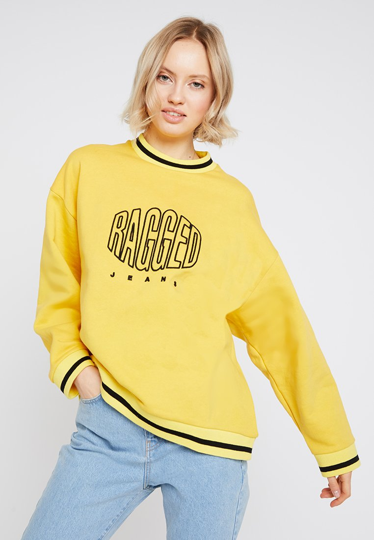 Ragged Jeans - EMBROIDED - Bluza - yellow