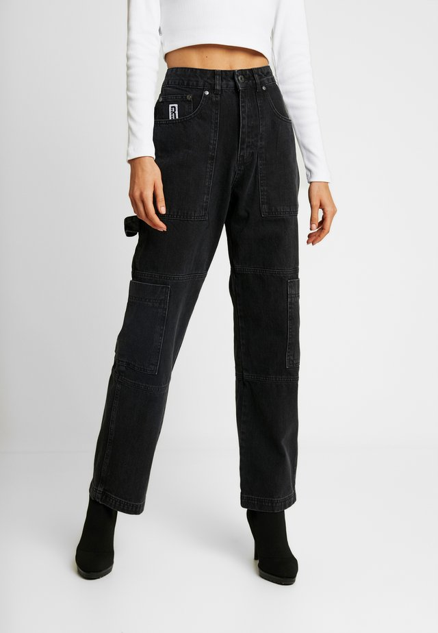 COMBAT - Straight leg jeans - charcoal